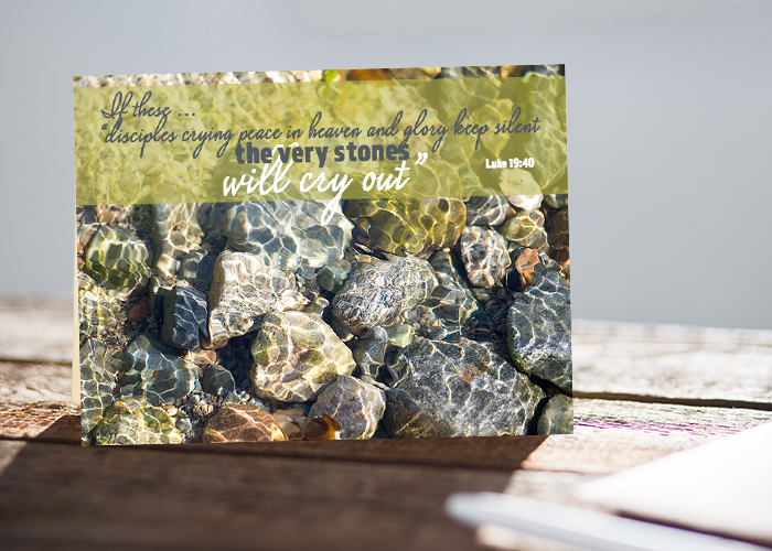 The Stones Will Cry Out Greeting Card